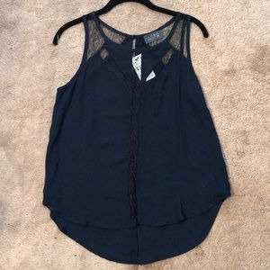 Astr Navy Blue Blouse